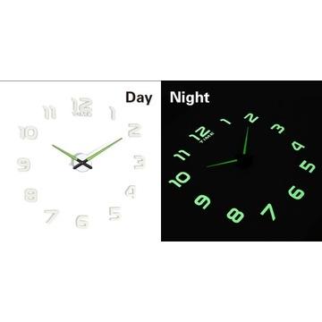 Zegar Ścienny Fluorescencyjny 50-60 cm 12 Cyfr