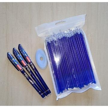 3x długopis zmazywalny scieralny 50x wklad wklady