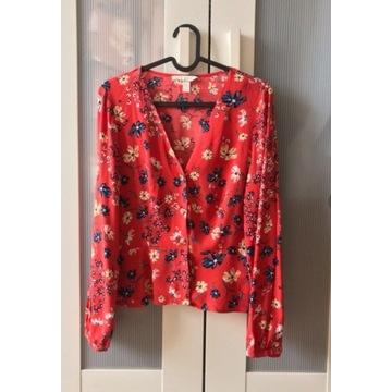Koszula bluzka H&M kwiaty xs 34