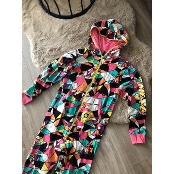Kolorowa piżama kombinezon onesie pajac