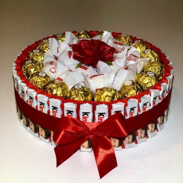 Tort z Kinder Rocher Raffaello - Dzień Kobiet