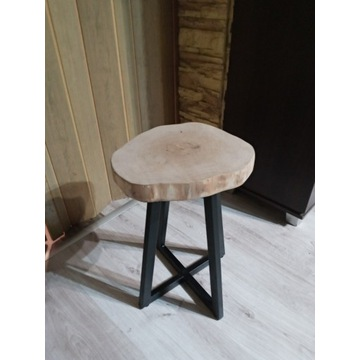 Taboret , Stolik kawowy , plaster drewna .
