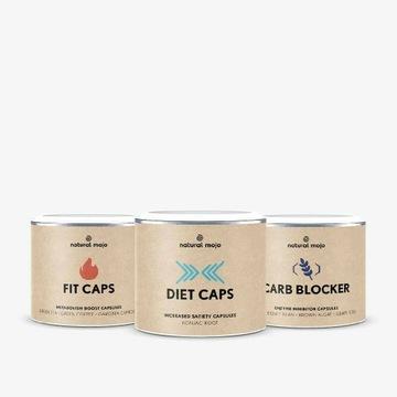 Natural Mojo Zestaw Slim Caps Diet CAPS Fit Caps