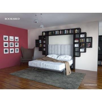 Łóżko chowane w szafie półko-tapczan