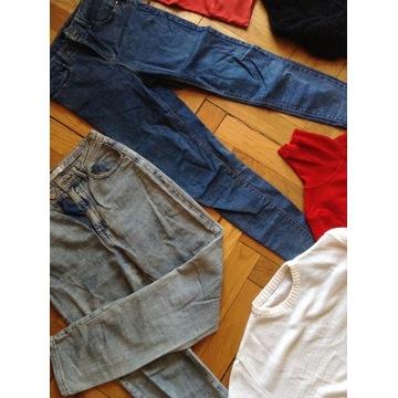 MEGA PAKA S/M ubrania zestaw H&M Bershka POZNAŃ Zm