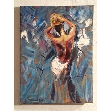 ,,Złota fryzura,, olejny Artur Sudak 40x30cm