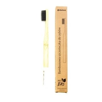 Bambusowa szczoteczka do zębów eko miękka biała
