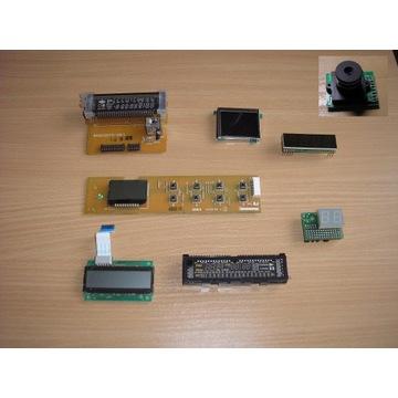 Różne wyświetlacze LCD, LED, VFD [7 szt] + kamerka
