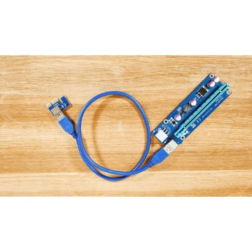 RISER PCI-E 006C BARDZO DOBRY MODEL USB 3.0 PCI-E