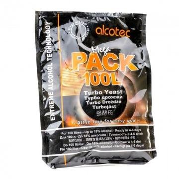 Drożdże gorzelnicze Alcotec Mega Pack na 100 L