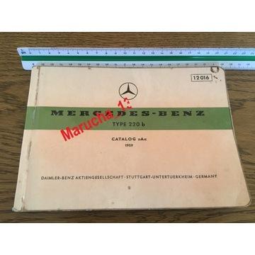 Mercedes 220 Skrzydlak katalog części zam oryginał