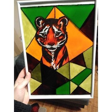 Obraz- Witraż Tygrys