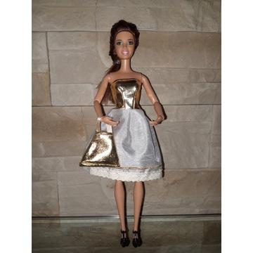 Sukienka ubranko dla lalki Barbie