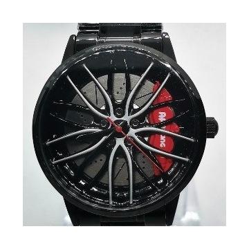 Męski zegarek felga 3D czerwony