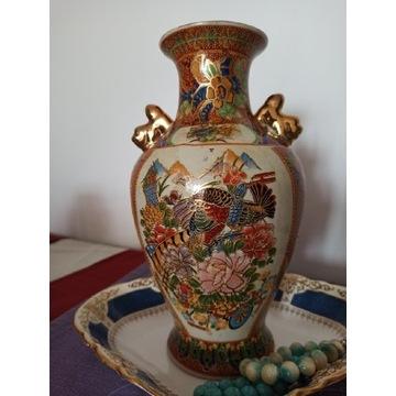 Wazon, duży, porcelana, zdobiona ręczne, Satsuma
