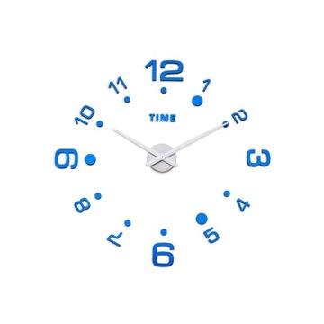 Duży zegar ścienny 90-120 Samoprzylepne ścienny 3D