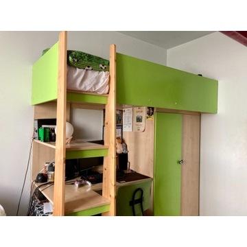 Zestaw mebli dla chłopca łóżko, biurko, szafa