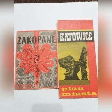 Plan miasta KATOWICE 1977 i ZAKOPANE 1980 PPWK