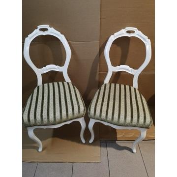 Zestaw krzeseł drewnianych Ludwik antyk