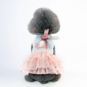 Sukienka tiulowa dla psa york shih tzu maltańczyk