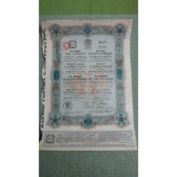 Obligacje ST-PETERSBURG 1913 r.