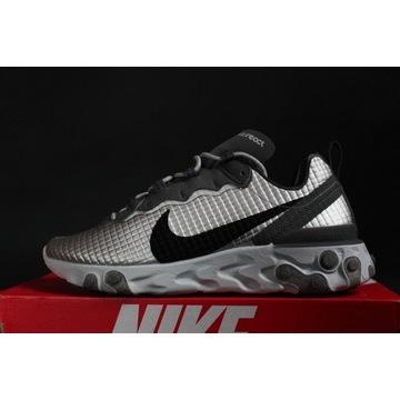Nike React Element 55 PRM Silver 9us/42,5eu