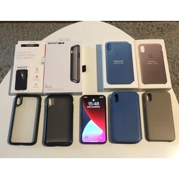 APPLE IPhone X 10 64GB Space Gray ZESTAW Etui Case