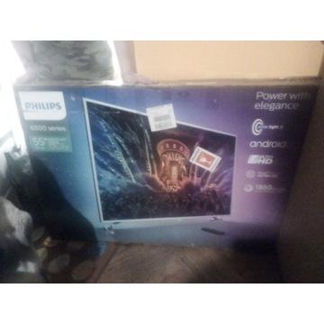 "Telewizor PHILIPS 6500 series 55"" pęknięta matryca"
