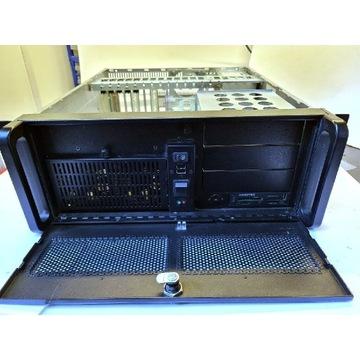 Obudowa Chieftec UNC-410s Rack 4U, 400W, szyny.