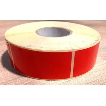 Czerwone naklejki 60x30mm 1000 sztuk