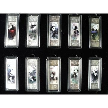 10 sztabek PANDA - zestaw