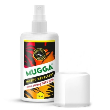 Sprawy 50% DEET na komary i kleszcze MUGGA STRONG