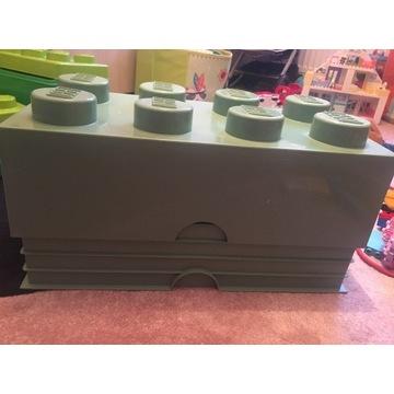 Pojemnik na klocki Lego klocek lego 8x8 zielony