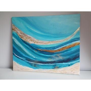 """Obraz Abstrakcja """" spokój oceanu"""""""