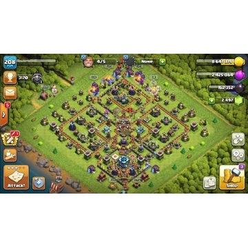 Clash of Clans konto TH13 208 poziom