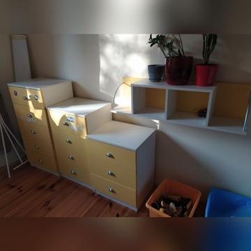 Meble dziecięce komody, pulka, łóżko piętrowe