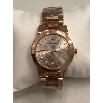 Burberry zegarek rose gold różowe złoto