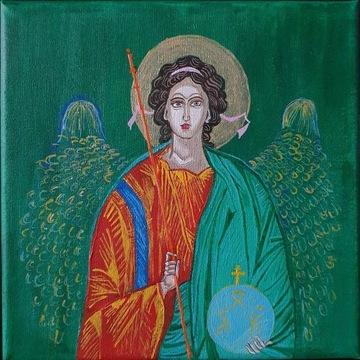 Anioł Stróż, ikona, obraz, 20x20cm