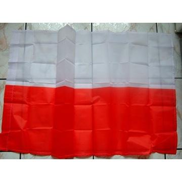 Flaga narodowa tkanina 60x96cm POLSKA dla Kibica