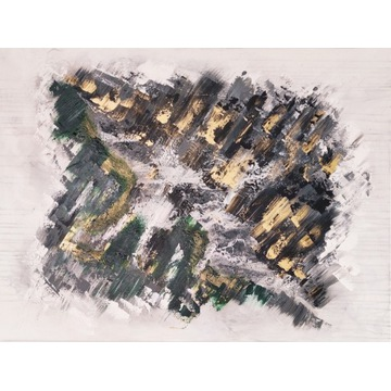 Duży obraz 120 x 90 cm abstrakcja ręcznie malowany