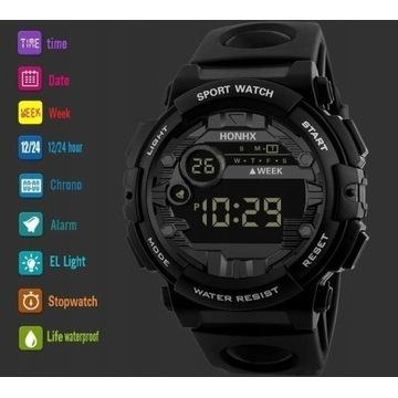 !HIT!  Elektroniczny sportowy zegarek męski