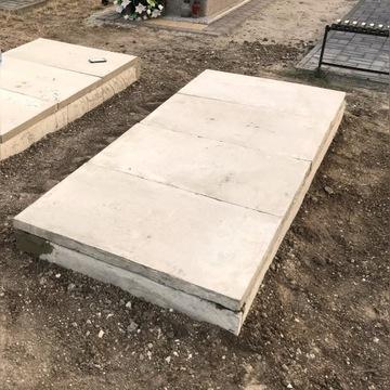 Grobowce z elementów betonowych, rozbijanie grobów