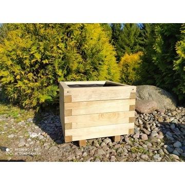 Donica z drewna skrzynia drewniana 40x40 wkład