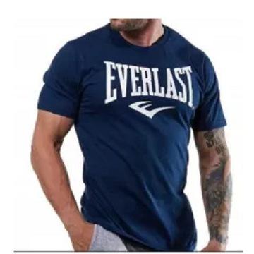 EVERLAST--Granatowy T-shirt roz.XL