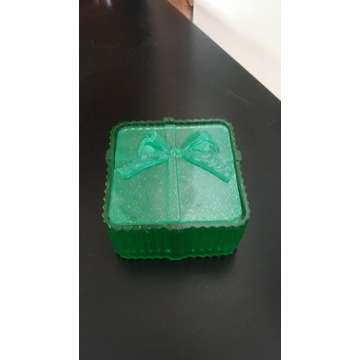 Pudełko z żywicy na biżuterie, drobiazgi, prezent