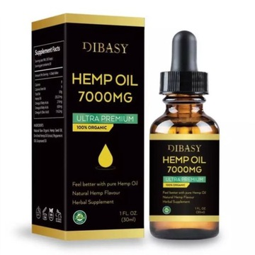 CBD Hemp Oil 7000 mg -Natural Oil flavour  30 ml