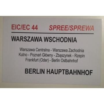 Tablica relacyjna EC Spree_Varsov PKP IC Intercity