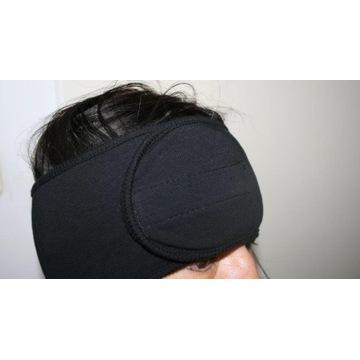 czarna szeroka opaska na włosy głowę zapinana rzep