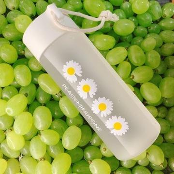 Butelka bidon na wodę, sok wzór stokrotki BPA FREE