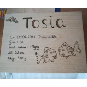 Pamiątka pudełko skrzyneczka na chrzest narodziny